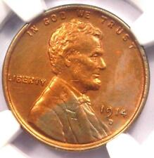 1914-D Lincoln Wheat Cent 1C - NGC Uncirculated Details - Rare MS UNC Coin!
