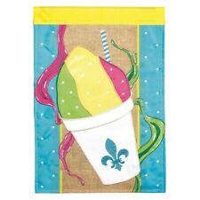 Snowball Fleur de Lis-House Flag-Burlap Double Sided Appliquéd-29�X42�