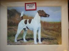 More details for smooth fox terrier by edwin megargee, mounted dog print ready for framing