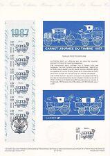 Document Philatélique Timbre 1er Jour : 14/03/ 1987 - Journée du Timbre Carnet