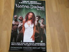 Notre Dame De PARIS  Rock Score Musical  DOMINION Theatre Original  Poster