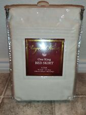 """New Raymond Waites Luxe Ivory King Bed Skirt 15"""" Drop"""