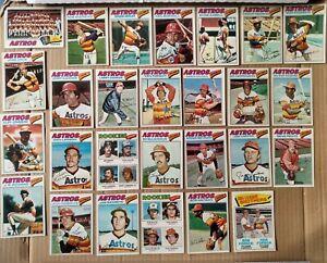 1977 Topps Houston Astros Team Set- Richard/Cedeno/Watson
