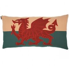 "Large 30""x15"" Welsh Red Dragon Wales Flag Cymru Tapestry Cushion - Double Sided"