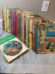 16)  GOLDEN BOOK ENCYCLOPEDIA SET  VINTAGE  1960  FREE SHIP  FAIR
