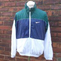 Nike Retro Tracksuit Top Shell Suit Track Jacket Green Blue White Men's M