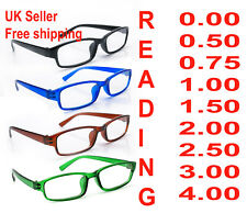 Reading Glasses 4 Packs Mens Womens UV Reader Trendy Designer Spring Geek