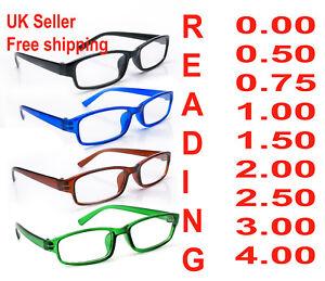 Reading Glasses 4 Packs Mens Womens UV Reader Trendy Designer Spring Geek