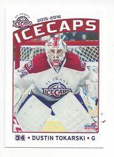 2015-16 St. John's IceCaps (AHL) Dustin Tokarski (Hartford Wolf Pack)
