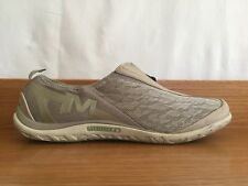 Women's Merrell Enlighten Glitz Breeze Mesh Slip-On Zip Shoes Size US 10 Beige