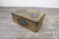 Vintage Clarnico Brass Effect Arts & Crafts Style Confectionery Tin.