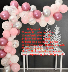 Christmas Balloon Arch Garland Kit Baby Shower Snowflake Party Balloons Decor
