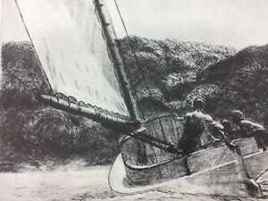 Edward Hopper The Catboat Vintage Print Lithograph 26472