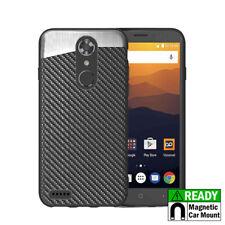 ZTE MAX XL / BLADE X MAX 3 - Magnetic Back-Plate Black Carbon Fiber Phone Case