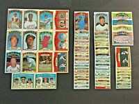 (Lot of 66) 1972 Topps Baseball Cards (Stars, Rookies, Common)  EX-NM & NM  LT10
