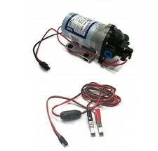 New SHURflo 12v Electric WATER TRANSFER PUMP w/ WIRING HARNESS 1.8 gpm 60 PSI