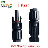 MC4 Stecker Paar Buchse+Stecker 4mm² bis 6mm² IP 67 Für Das Sonnensystem