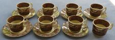 8 Demitasse Cups, 7 Saucers Royal Staffordshire Pottery England Jenny Lind 1795