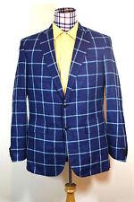 Vineyard Vines Sport Blazer Coat Windowpane Plaid Moonshine NEW 40 Long 40L