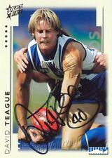 ✺Signed✺ 2003 NORTH MELBOURNE KANGAROOS AFL Card DAVID TEAGUE