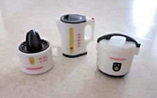SET OF 3 WHITE REFRIGERATOR MAGNETS - COFFEE POT - JUICER - RICE COOKER