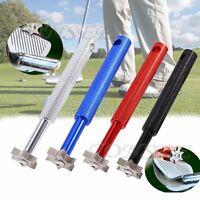 Golf UV Groove Edge Iron Wedge Club Sharpener Regrooving Cleaner Cleaning Tool
