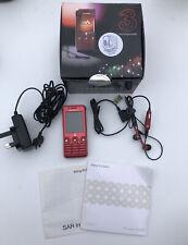 RARE Sony Ericsson W660i ROSE ROSSO (3) Rete di scatola originale con tutto
