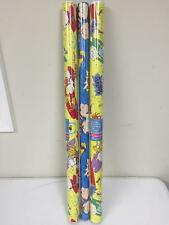 Lot Of 3 American Greeting Nickelodeon Rugrats 20 Sqft Gift Wrap Wrapping Paper