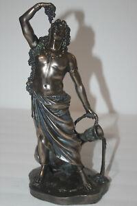 PACIFIC GIFTWARE BRONZE DIONYSUS BUCCHUS GREEK ROMAN GOD OF WINE STATUE