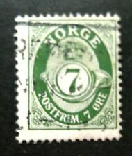 Norway-1929-7 Ore Green-Used