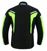 Quad Motorrad Roller Textil Jacke Wasserdicht Protektoren Jacke Schwarz Neon