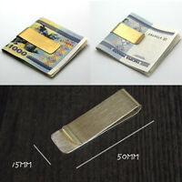 Delicate Metal Money Clip 2 Colors Man Clamp Holder For Money Wallet Silver//Gold