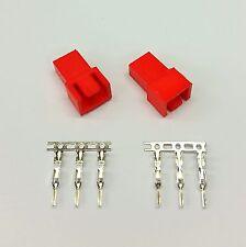 Pacco da 2-Maschio 3 Pin Fan connettore di alimentazione-Rosso Inc PIN
