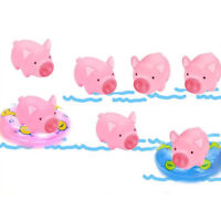 10 Pcs/Set Rubber Pig Baby Bath Toy for Kids Baby Bathroom Shower Toys MA