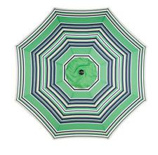 Market Umbrella Mosaic 9' Round Steel  Patio RV Park Beach Green Stripe