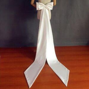 Detachable Satin Bow Wedding Dress Knots Removeable Bride Dresses Floor Length