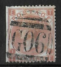 GB USED ABROAD LEVANT 10d Red Brown Plate 1 G06 SG #Z24 Rare