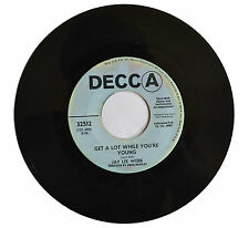 JAY LEE WEBB Broad Minded Man / Get A Lot While You're Young 1969 single PROMO