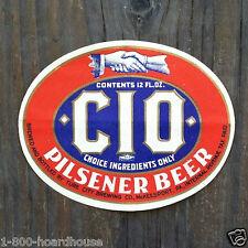 10 Vintage Original CIO PILSENER BEER BOTTLE Labels 1930s NOS Unused Union