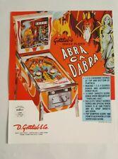 1975 Gottlieb ABRA CA DABRA Original Vintage Pinball Machine Flyer Ad NOS