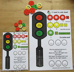 Warning communication flash cards, encourage good behaviour~Autism~SEN~Schools~