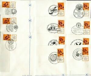 Judaica Over 300 Event Covers Olive Branch stamps all different 1982-1986 x40189