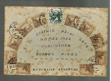 1952 Zaragoza Spain Airmail Cover to Buenos Aires Argentina