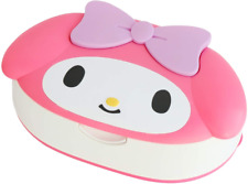 JAPAN Sanrio My Melody Rabbit Face Wet Tissue Case w/ 80pcs 99% Water Wet Wipes
