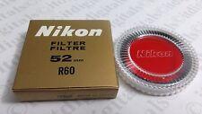 Genuine Nikon 52mm R60 RED Glass Lens Filter 52 mm OEM Japan Genuine 25A Red25