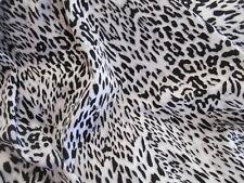 "SPANDEX fabric black spots on white 4-way stretch hvy wgt 1 yd x 55"" wide"