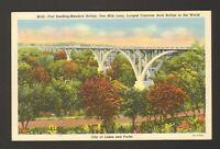 Unused Postcard Fort Snelling Mendota Bridge St Paul Minnesota MN