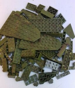 Mega Bloks Halo Army Green Bricks Plates Parts Bulk Lot of 103 Random Pieces