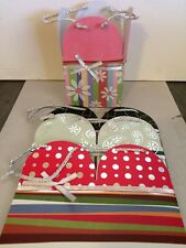 Collapsible Square Gift Boxes With Silver Cord Handle Set Of 4