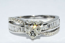 $8,000 1.19Ct Heart Shaped Natural Diamond Ring 18K White Gold